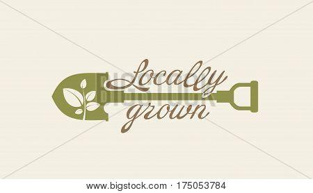Vector illustration. Design element. Organic natural product