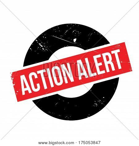 Action Alert rubber stamp. Grunge design with dust scratches. Effects can be easily removed for a clean, crisp look. Color is easily changed.