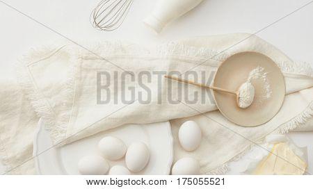 dough preparation, flat lay