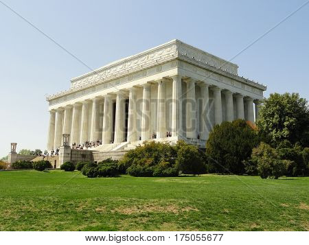 Side View of The Lincoln Memorial, Washington DC
