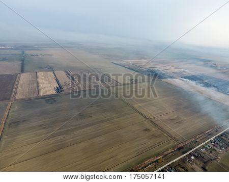 Burning Straw In The Fields