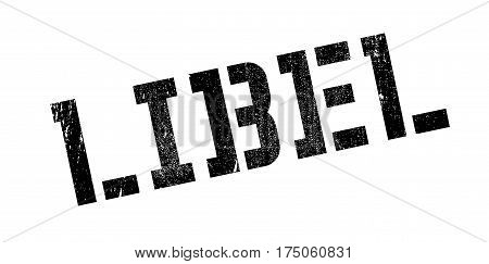 Libel rubber stamp. Grunge design with dust scratches. Effects can be easily removed for a clean, crisp look. Color is easily changed.