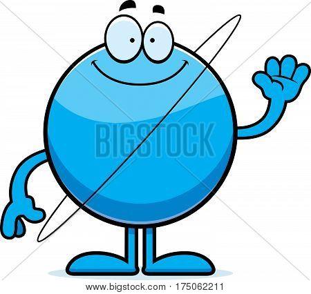 Cartoon Uranus Waving