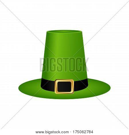 Hat cylinder on St. Patrick's Day vector illustration