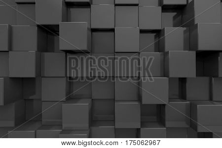 Background from extruded squares, black color