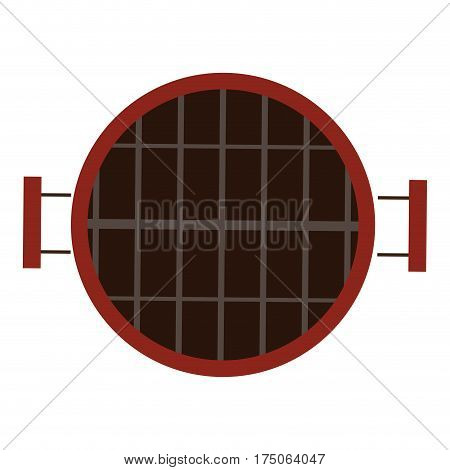 Isolated grill icon on a white backgrund, Vector illustration