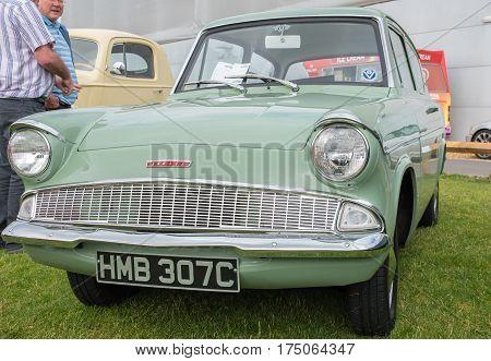 1934 Green Ford Anglia Car