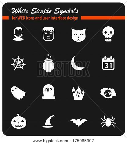 Halloween simply symbol for web icons and user interface