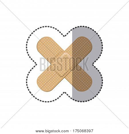 color bands aids icon, vector illustraction design image