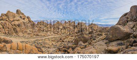 Rock Boulders Form Hills