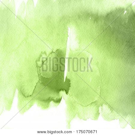 Green Abstract watercolor hand painted background in trendy 2017 colors. Greenery tint Tint Watercolour Texture.