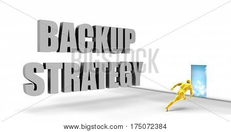 Backup Strategy as a Fast Track Direct Express Path 3D Illustration Render