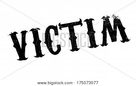 Victim rubber stamp. Grunge design with dust scratches. Effects can be easily removed for a clean, crisp look. Color is easily changed.