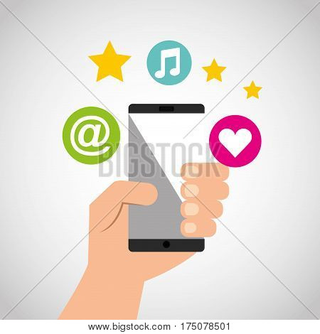 social media network icons vector illustration design