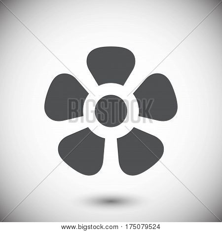 fan air propeller icon stock vector illustration flat design