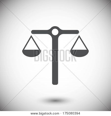 scales icon stock vector illustration stock vector illustration flat design