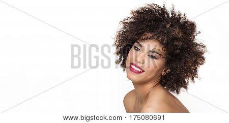 Sensual African American Woman Posing.