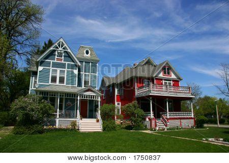 Wooden Houses In Oak Park