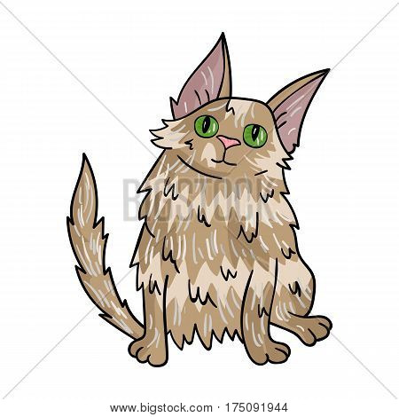 Turkish Angora icon in cartoon design isolated on white background. Cat breeds symbol stock vector illustration.