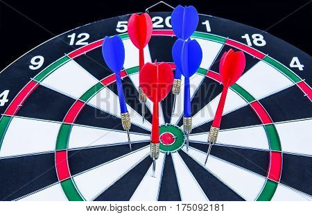 Sports Target, Arrow - Bow and Arrow, Bull's-Eye, German Deutschemarks, Blackboard
