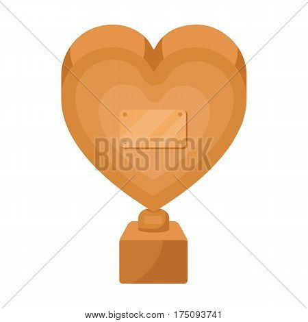 Bronze heart in the form of awards.The audience award for best film.Movie awards single icon in cartoon style vector symbol stock web illustration.