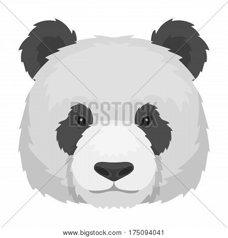 Panda icon in cartoon design isolated on white background. Realistic animals symbol stock vector illustration.