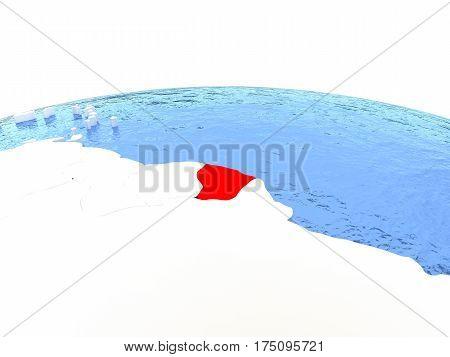 Map Of French Guiana On Globe