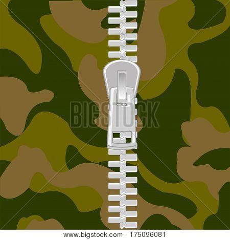 Clasp lightning on fabrics defensive fabrics camouflage