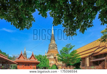Old Temple Temple of Ayuthaya Province Thailand