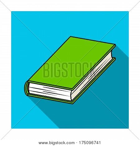 Black book icon in flat design isolated on white background. Books symbol stock vector illustration.