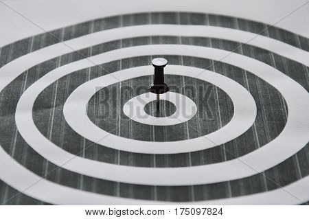 black marker boards stab on circle target
