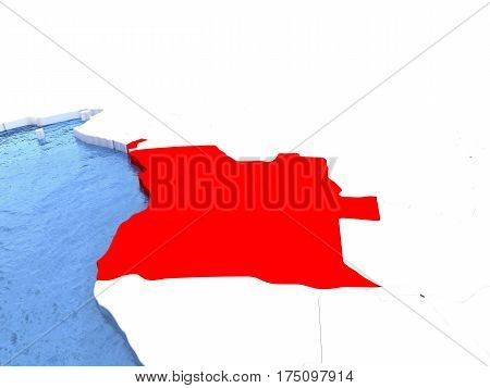 Map Of Angola On Globe
