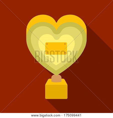 Bronze heart in the form of awards.The audience award for best film.Movie awards single icon in flat style vector symbol stock web illustration.