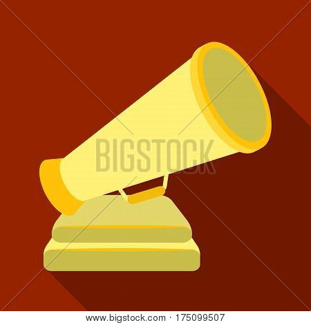 The prize in the form of a loudspeaker on a stand.The award for best Director.Movie awards single icon in flat style vector symbol stock web illustration.