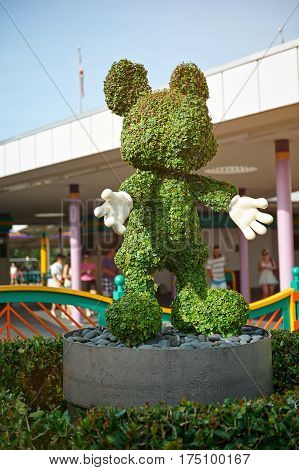 Mickey Mouse Grass Statue