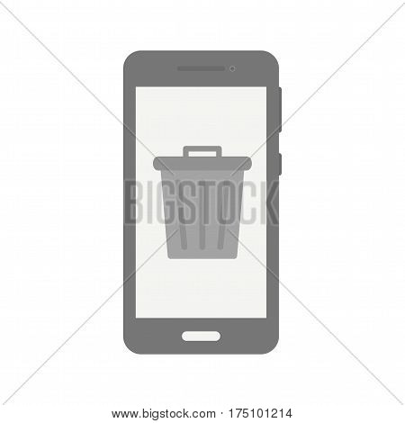 Recycle bin, delete, remove icon vector image. Can also be used for smartphone. Suitable for use on web apps, mobile apps and print media.