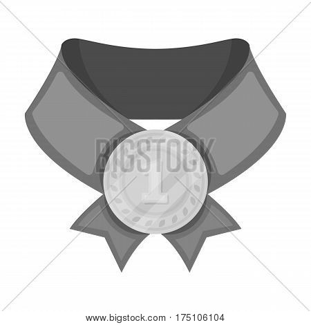 The gold award.Medal of medalist.Awards and trophies single icon in monochrome style vector symbol stock web illustration.
