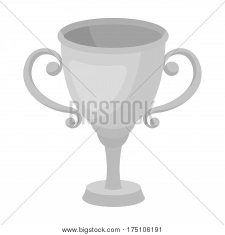 Gold Cup for the first place.The award winner of the racing competition.Awards and trophies single icon in monochrome style vector symbol stock web illustration.