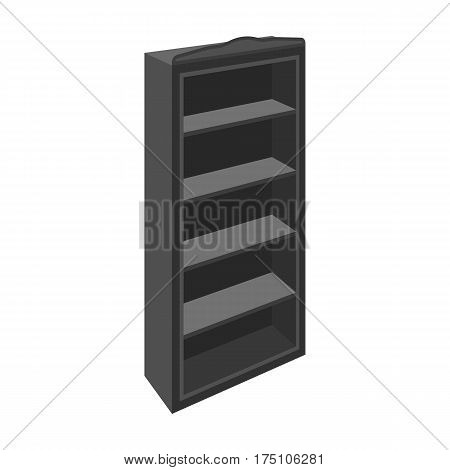 The little bookcase.Home library.books to read.Bedroom furniture single icon in monochrome style vector symbol stock web illustration.