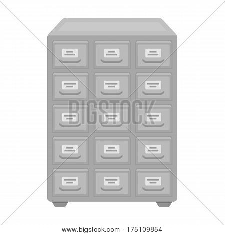Library catalog icon in monochrome design isolated on white background. Library and bookstore symbol stock vector illustration.
