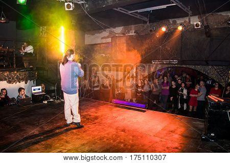 Fashion Performance Art Chaos In Night Club Black Rose In Kirov City In 2016