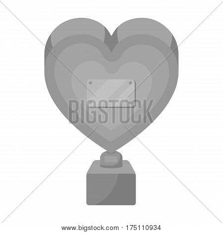 Bronze heart in the form of awards.The audience award for best film.Movie awards single icon in monochrome style vector symbol stock web illustration.