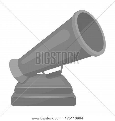 The prize in the form of a loudspeaker on a stand.The award for best Director.Movie awards single icon in monochrome style vector symbol stock web illustration.