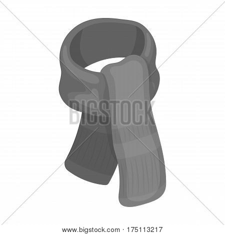 Purple plush scarf for women.Scarves and shawls single icon in monochrome style vector symbol stock web illustration.