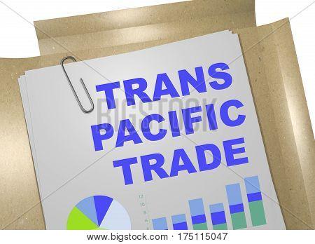 Trans Pacific Trade Concept