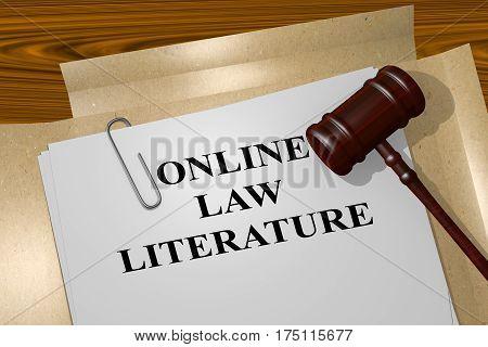 Online Law Literature Concept