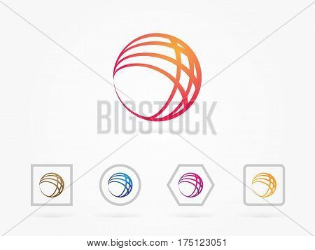 Set of abstract swirls and circles, logo vector collection