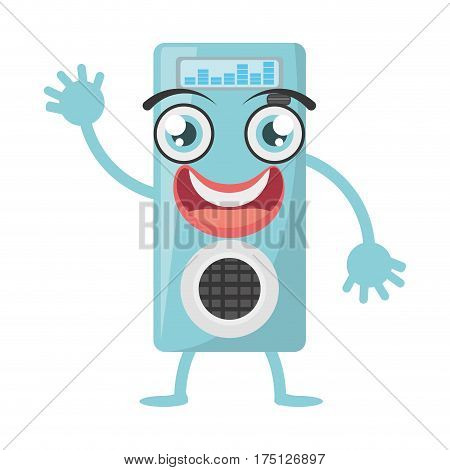 cartoon music mp3 icon vector illustration eps 10