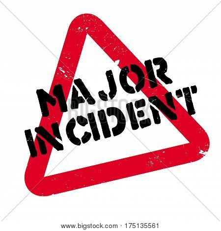 Major Incident rubber stamp. Grunge design with dust scratches. Effects can be easily removed for a clean, crisp look. Color is easily changed.