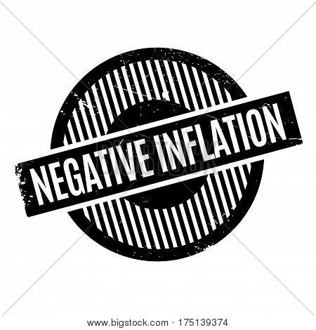 Negative Inflation rubber stamp. Grunge design with dust scratches. Effects can be easily removed for a clean, crisp look. Color is easily changed.